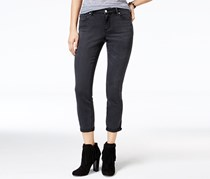 Jessica Simpson Women's Forever Cuffed Skinny Jeans, Black Wash