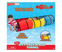 Playhut 6FT. Peek-A-Boo Tunnel, Yellow/Red/Blue