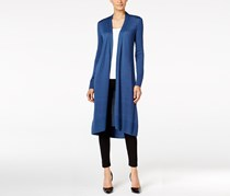 Alfani Open-Front Long Cardigan, Global Blue