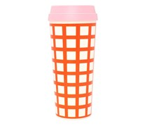 Ban.do Hot Stuff Lattice Thermal Mug, Pink/Orange