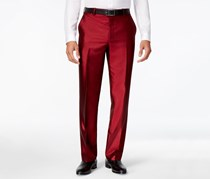 INC International Concepts Men`s Shiny Pants, Burgundy