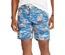 Ralph Lauren Men's Kailua Swim Trunk Shorts, Blue Combo