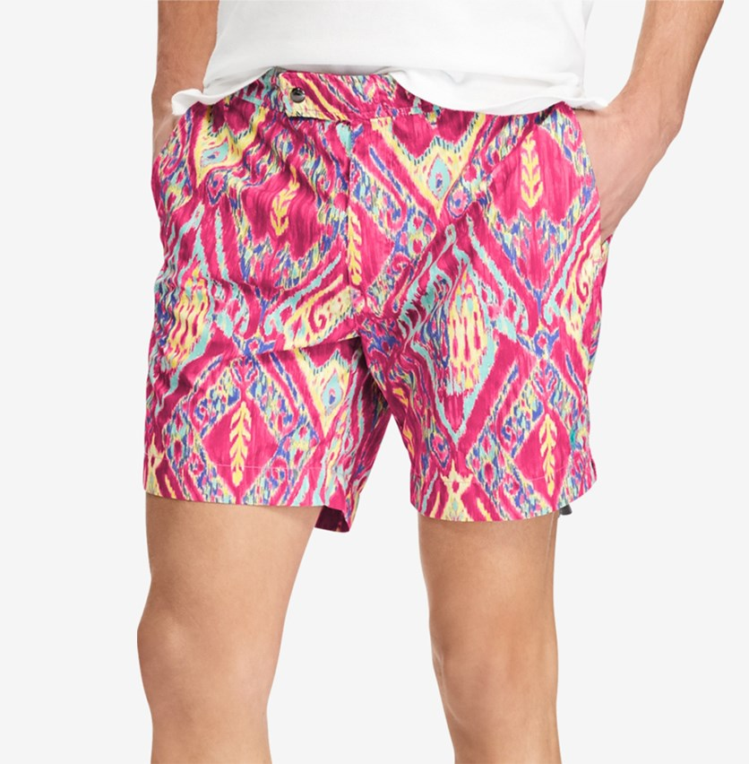 Men's Monaco Swim Trunks, Magenta/Pink