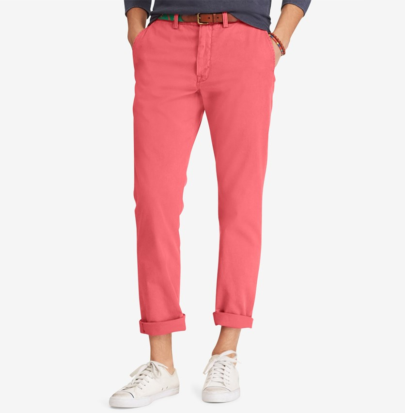Men's Classic Fit Chino Pants, Nantucket Red