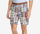 Ralph Lauren Men's Classic Fit Madras Shorts, Navy/Red/Ivory Combo