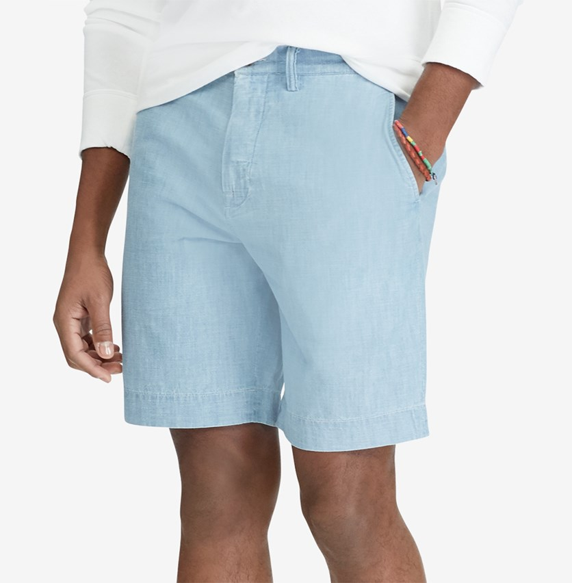 Men's Classic-Fit Shorts, Chambray Blue