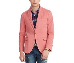 Polo Ralph Lauren Mens Collins Stretch Suit Blazer, Nantucket Red