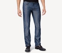 Inc International Concepts Men's Slim Straight Jeans, Navy Chambray