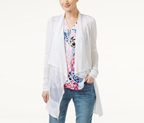 Inc International Concepts Draped Illusion Cardigan, White