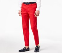 INC International Concepts Men's Stretch Slim-Fit Pants, Licorice Red