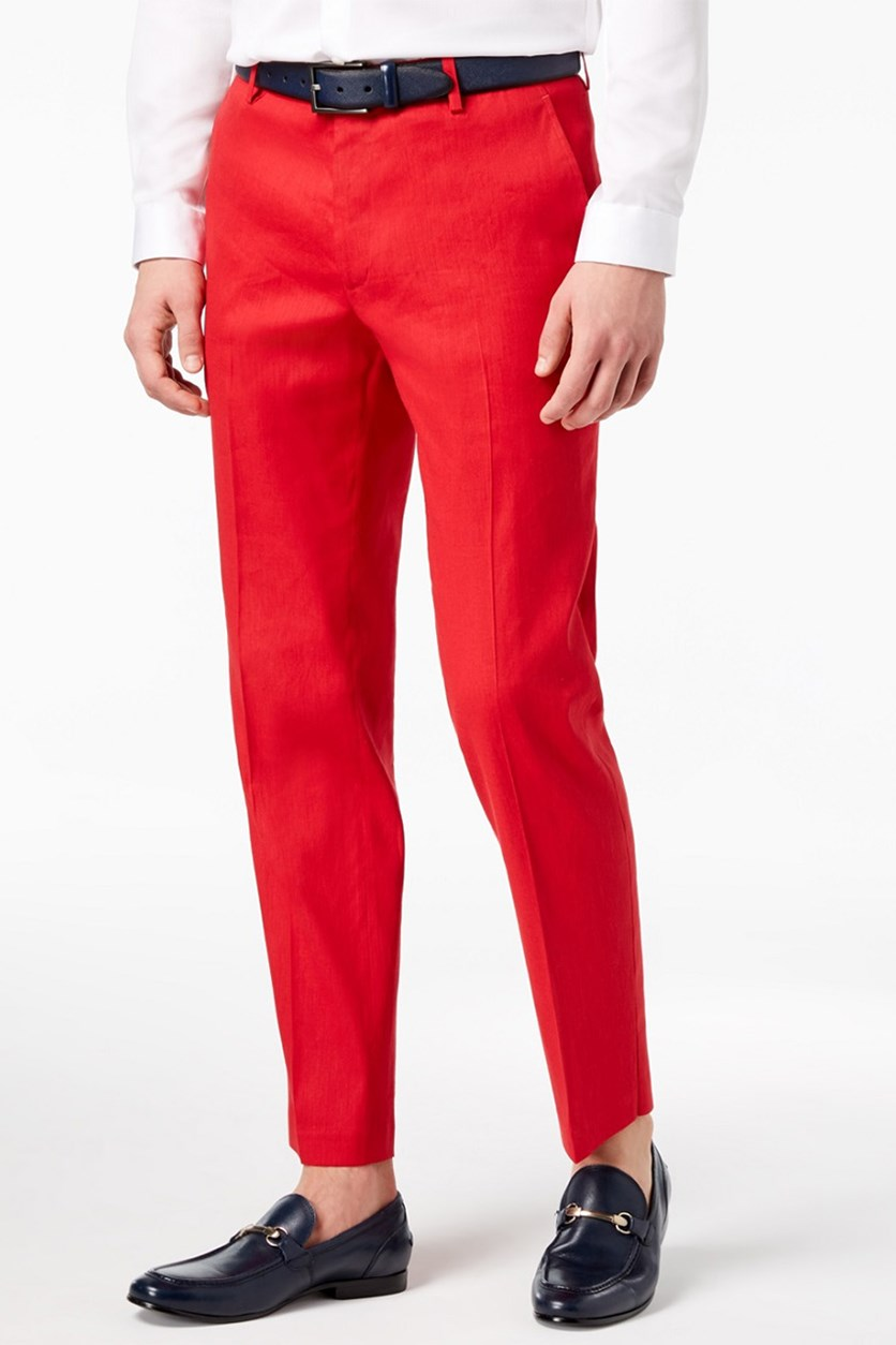 International Concepts Men's Stretch Slim-Fit Pants, Licorice Red