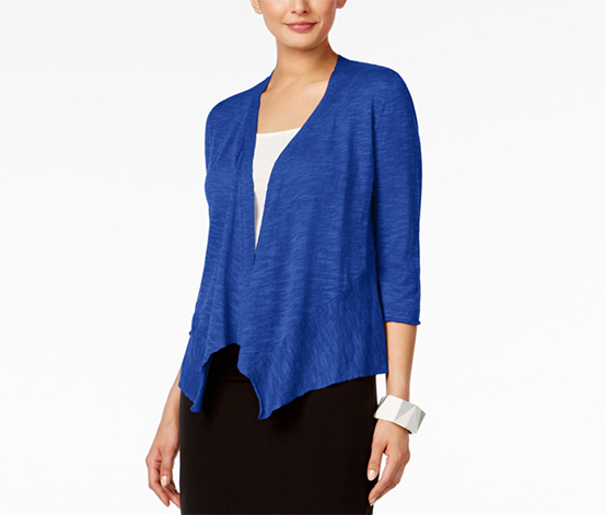 Alfani Women's Petite Open-Front Cardigan, Dark Blue