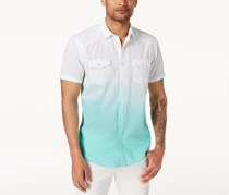 International Concepts Mens Ombre Dual-Pocket Shirt, Aqua Ice