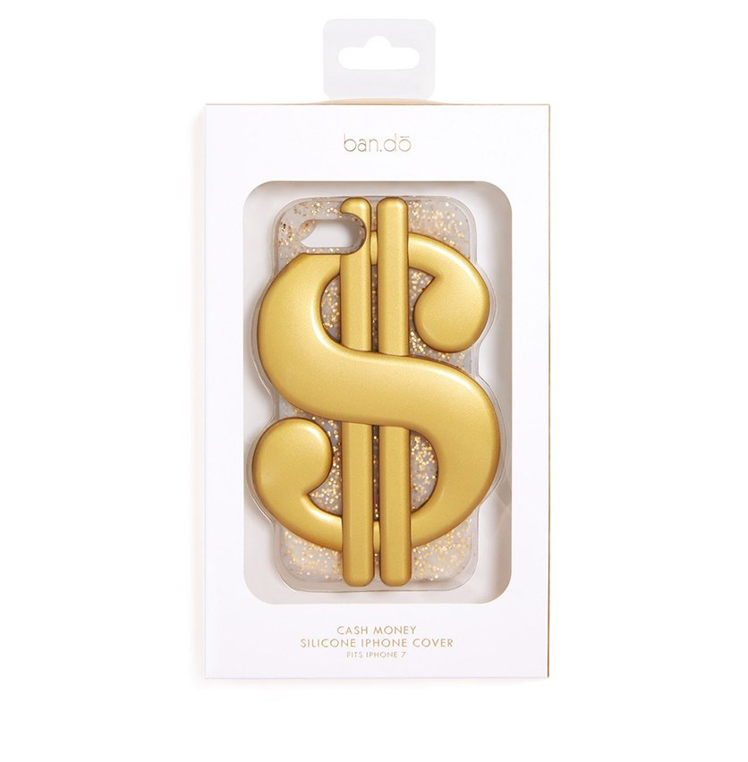 Silicone Iphone 7 Case Cash Money, Gold
