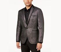 International Concepts Mens Lurex Slim Blazer, Black