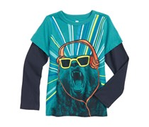 Tea Collection Bear With Me Graphic T-Shirt, Blue