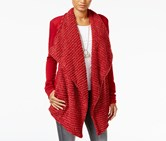 Lucky Brand Women's Open-Front Draped Cardigan, Red
