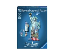Ravensburger Statue Of Liberty - Silhouette Puzzles, Blue Combo