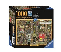 Pepper Dreams 1000 Piece Jigsaw Puzzle, Black