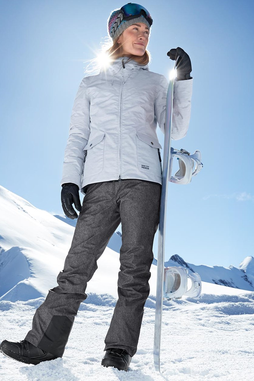 Women's Fashion Ski Pants, Grey Denim
