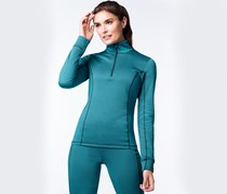 Women's Thermal Shirt, Turquoise