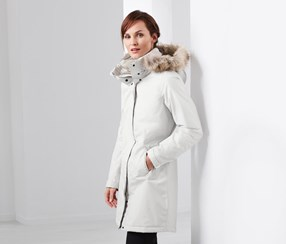Women's thermal Coat, White