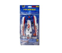 Revell P-51 Mustang Plastic Model Kit, White/Red