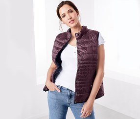 Women's Reversible vest, Navy/Maroon
