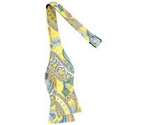 Tommy Hilfiger Men's Tropic Paisley To-Tie Silk Bow Tie, Yellow