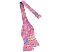 Tommy Hilfiger Men's Tropic Paisley To-Tie Silk Bow Tie, Pink