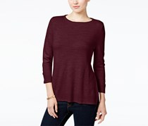 Karen Scott Women's Sweater, Maroon
