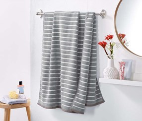 Structure Bath Towel, Grey