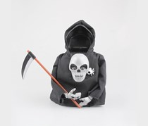 DY Toy Animated Skull Shocker Halloween Toy  With Motion Sensor, Black