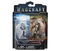 Jakks Pacific Warcraft Mini Figures Alliance Soldier vs Durotan, Silver Combo