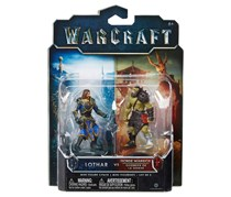 Jakks Pacific Warcraft Mini Figures - Lothar vs Horde Warrior, Green/Black Combo