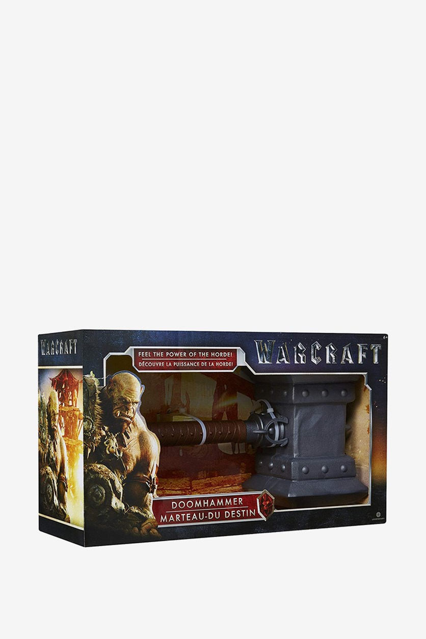 Warcraft Movie Wow Doomhammer Toy, Grey Combo