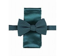 Alfani Men's Walsh Abstract Bow Tie Solid Pocket Square Set, Teal