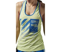 Reebok Workout Graphic Tank, Lum Lime/Blue