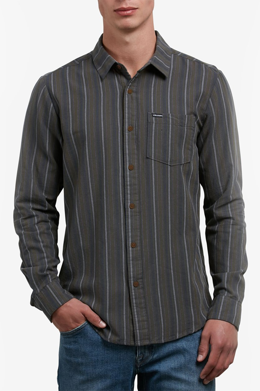 Men's Sable Striped Shirt, Sable