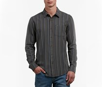 Volcom Men's Sable Striped Shirt, Sable