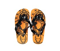 Little Boys Disney The Avengers Slip-On Flipflops, Orange/Black