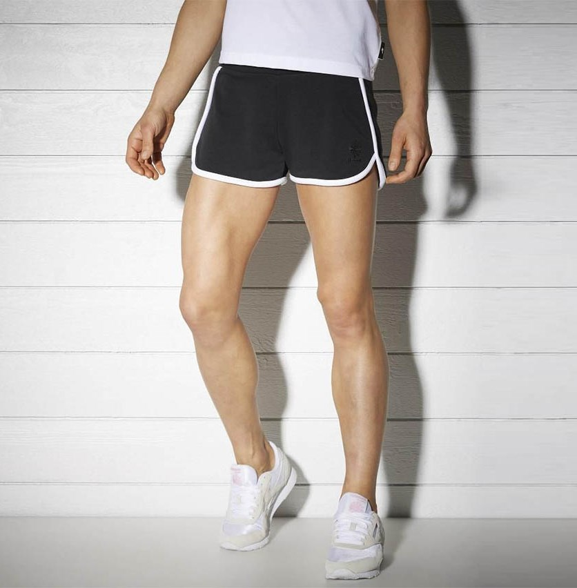 Knit Track Short, Black