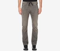 Buffalo David Bitton Men's Zoltan-x Stretch Distressed Jogger Pants, Grey