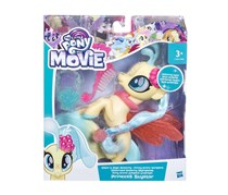 Hasbro My Little Pony the Movie Glitter and Style Seapony Princess Skystar Fig, Yellow/Sky Blue