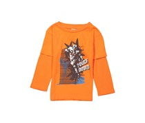 Little Boys Graphic Longsleeve Tee, Orange
