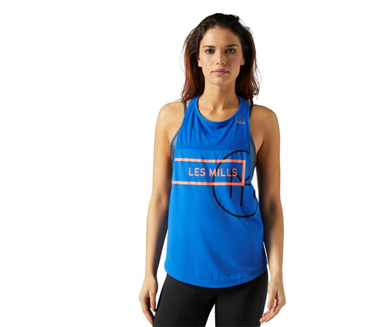 Reebok Les Mills Quick Cotton Tank, Vital Blue