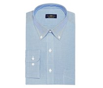 Club Room Men's Regular Fit Dress Shirt, French Blue Micro Check