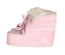 Baby Wool Lined Slip On Moccasin, Pink
