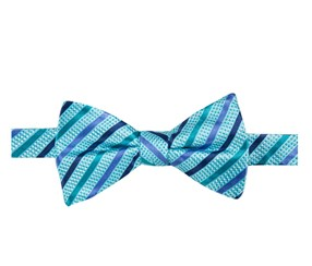 Countess Mara Men's Russet Stripe Pre-Tied Bow Tie, Blue