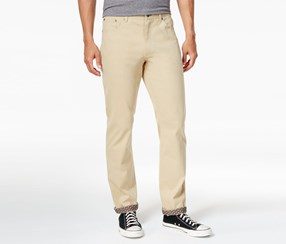 ConStruct Men's Slim-Fit Stretch Pants, Khaki